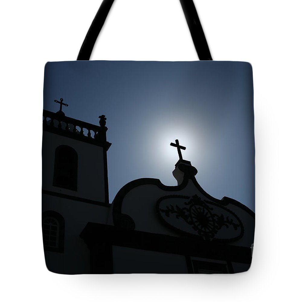 Belief Tote Bag featuring the photograph Divine Light by Gaspar Avila