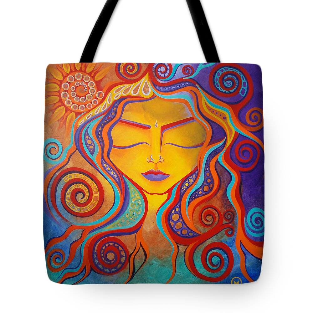 Abstract Tote Bag featuring the painting Divine Transcendence by Michelle Oravitz