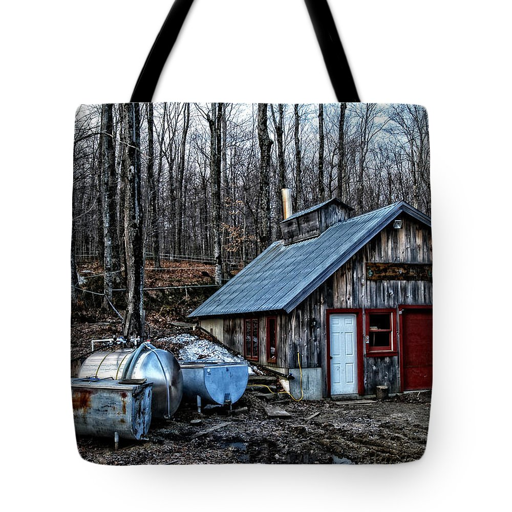 Dix Tote Bag featuring the photograph Dix Family Sugar House by Mike Martin
