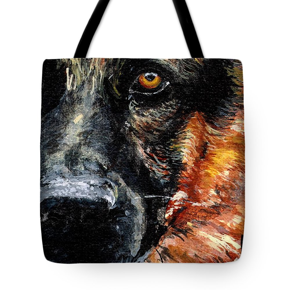 Charity Tote Bag featuring the painting Dixie by Mary-Lee Sanders