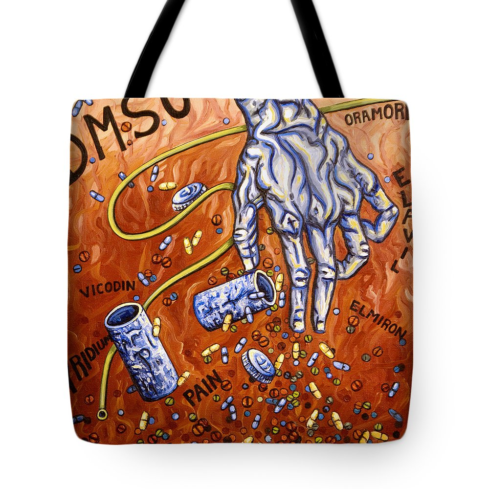 Pain Tote Bag featuring the painting Dmso by Judy Henninger