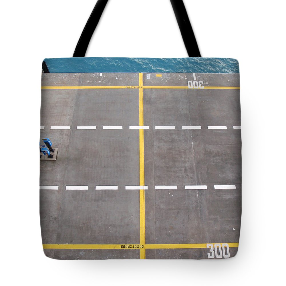 Port Tote Bag featuring the photograph Do Not Cross by Are Lund