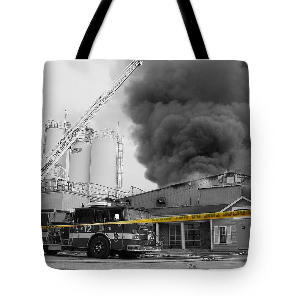 Selective Coloring Tote Bag featuring the photograph Do Not Cross by Dylan Punke