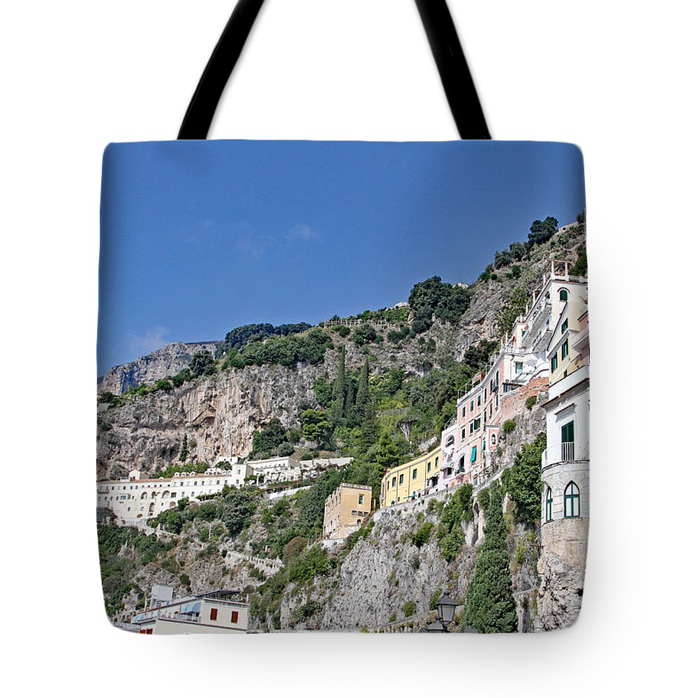 Amalfi Coast Tote Bag featuring the photograph Do Not Sleepwalk by Allan Levin