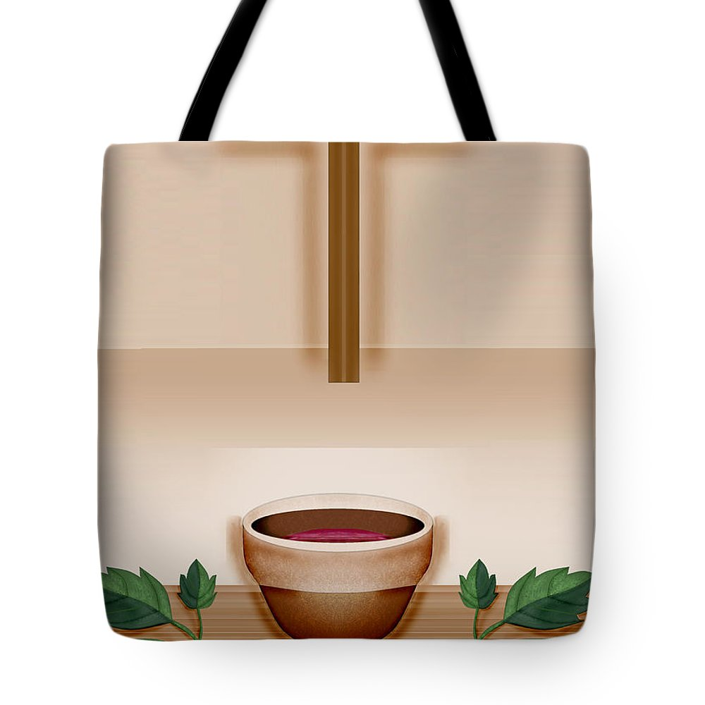 Holy Communion Tote Bag featuring the painting Do This In Remembrance Of Me by Anne Norskog