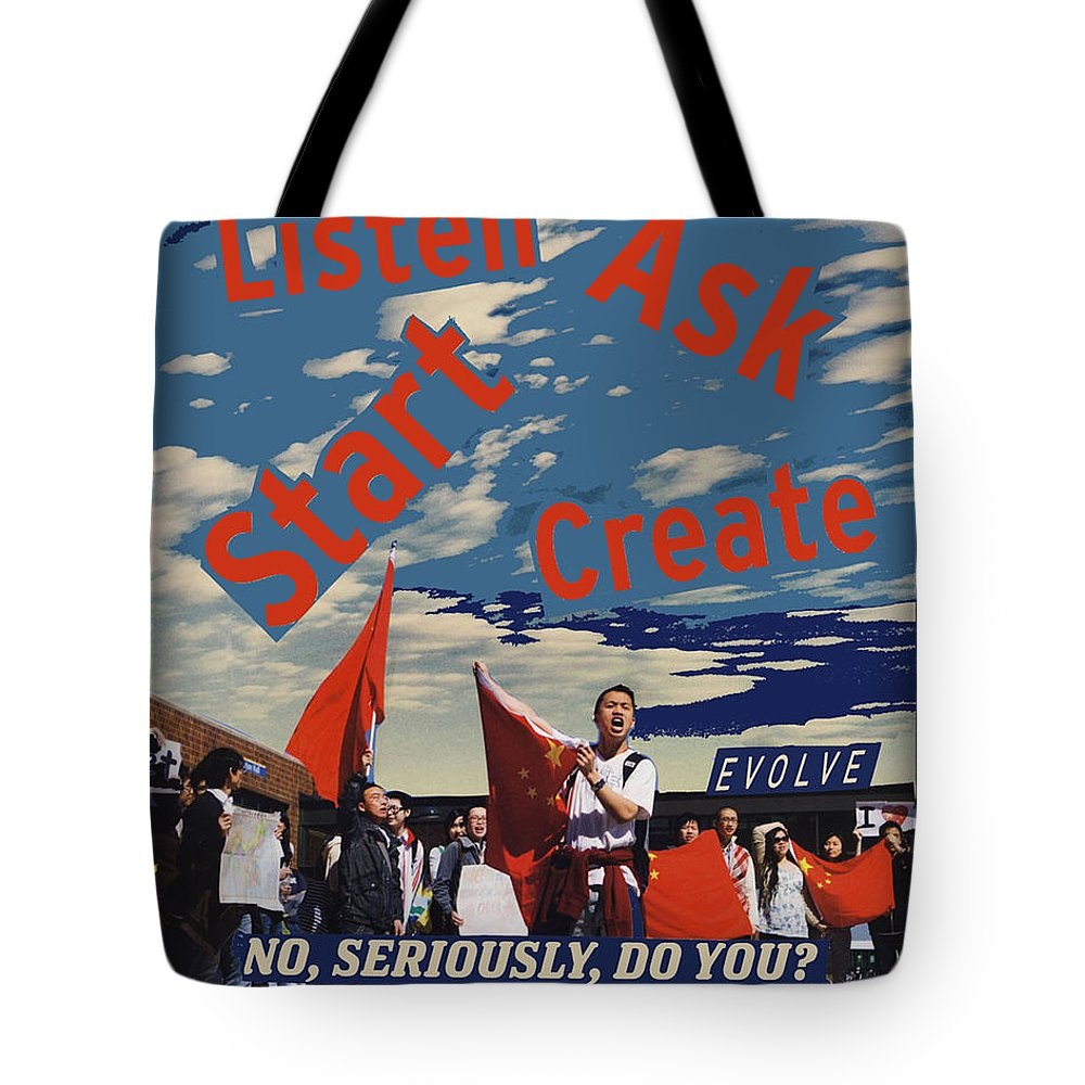 Collage Tote Bag featuring the digital art Do You  by John Vincent Palozzi