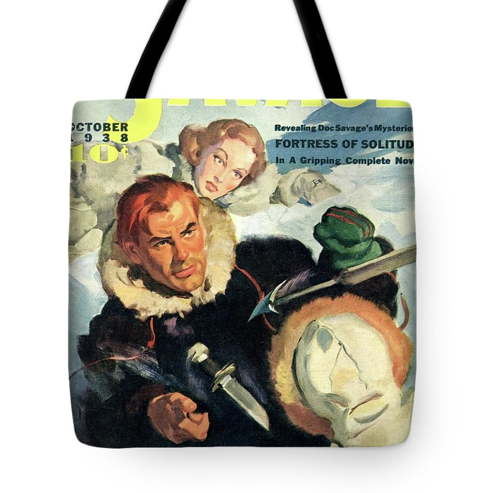Comic Tote Bag featuring the painting Doc Savage Fortress Of Solitude by Conde Nast