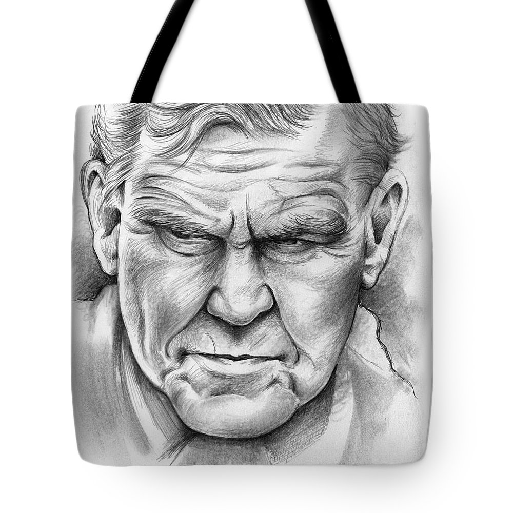 Doc Watson Tote Bag featuring the drawing Doc Watson by Greg Joens