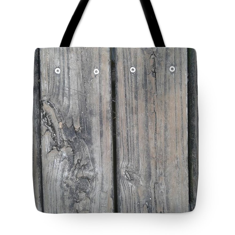 Wood Tote Bag featuring the photograph Dock by Dan Emberton