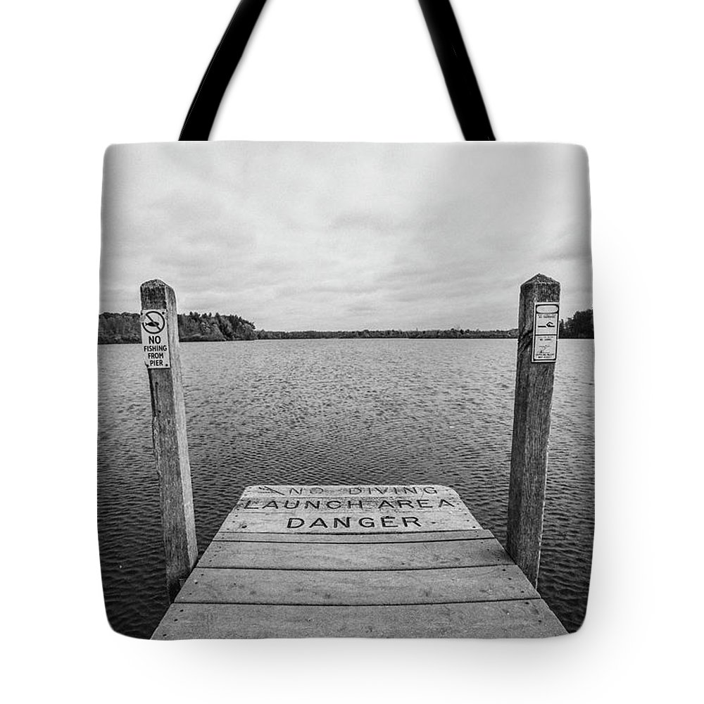 35mm Film Tote Bag featuring the photograph Dock No Diving by John McGraw