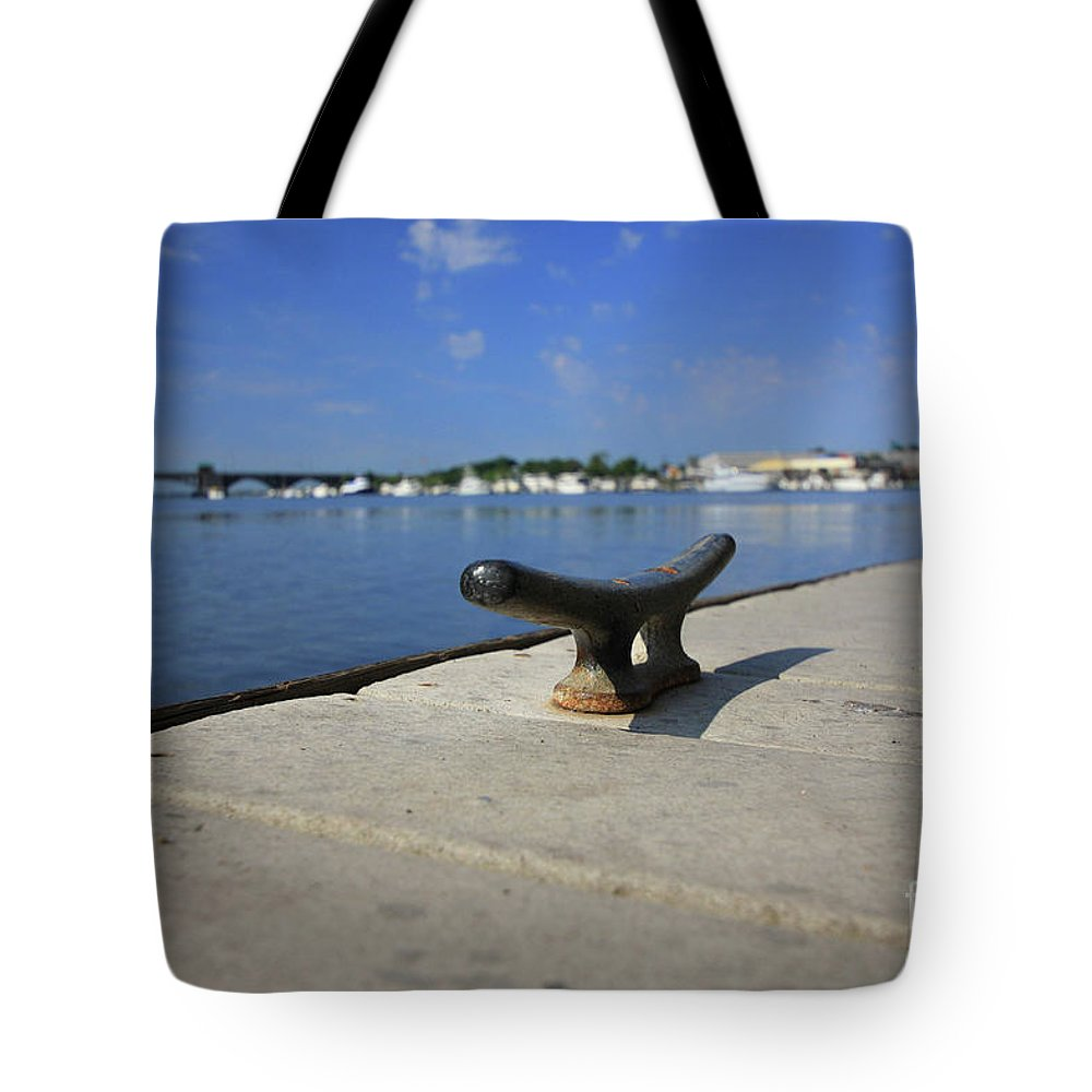 Coastal Tote Bag featuring the photograph Dock's View by Karol Livote