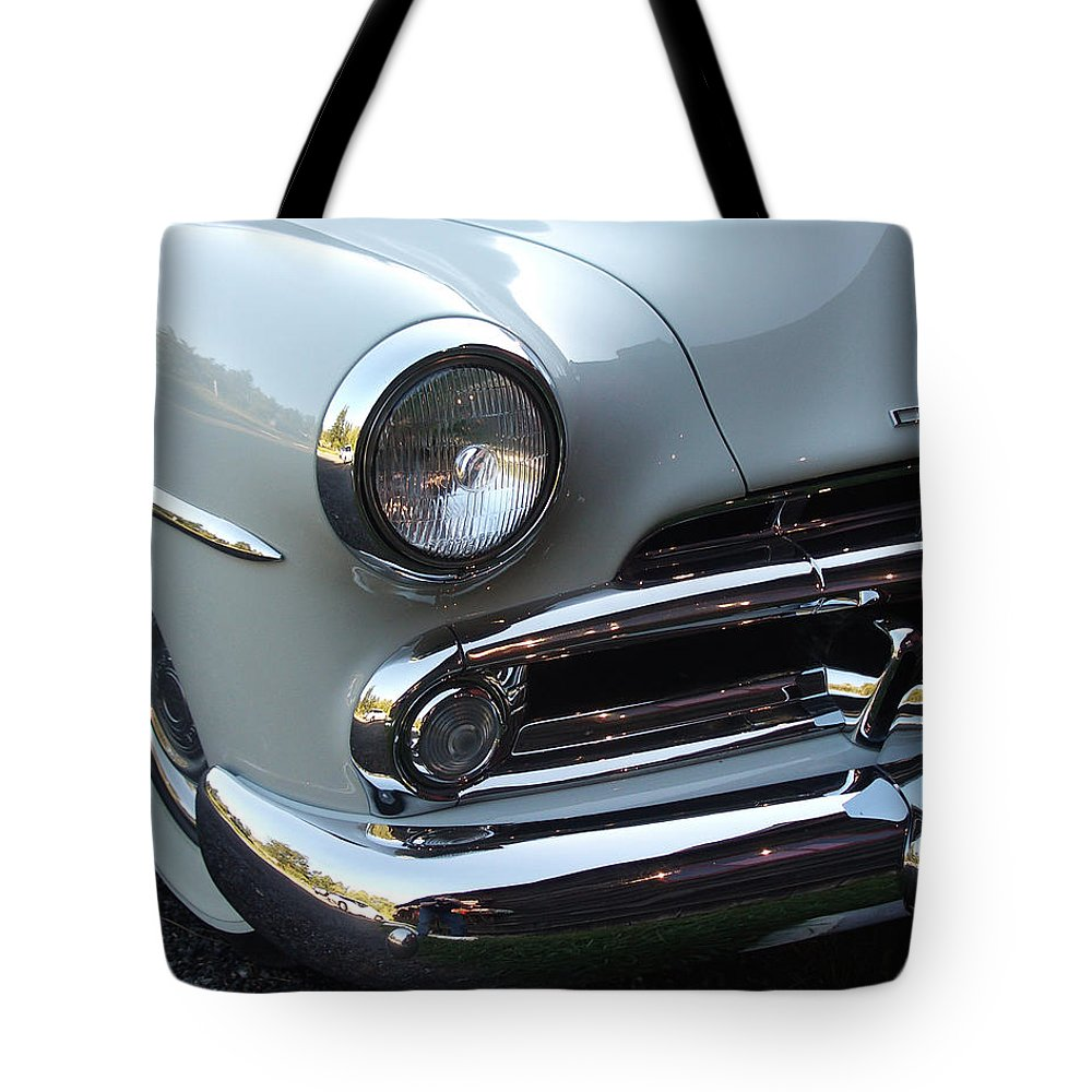 Dodge Tote Bag featuring the photograph Dodge by Tim Nyberg