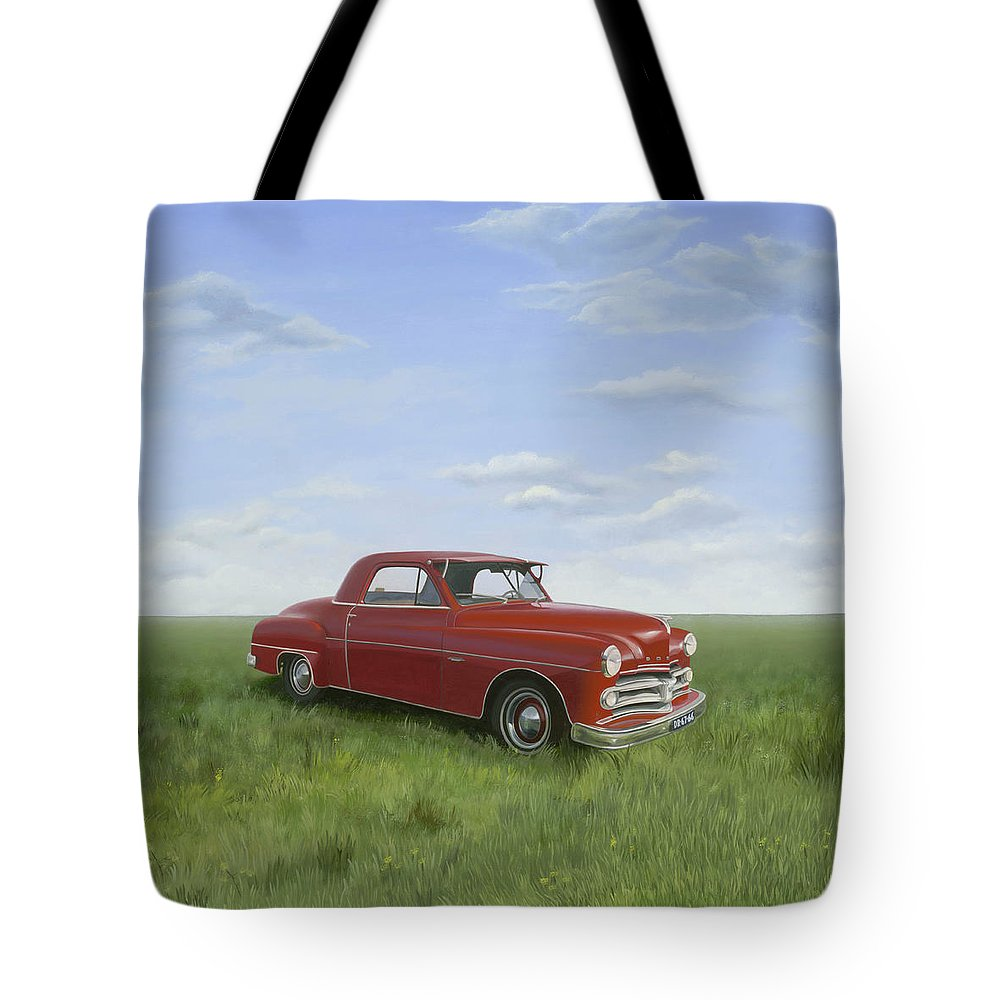 Classic Tote Bag featuring the painting Dodge by Patricia Van Lubeck