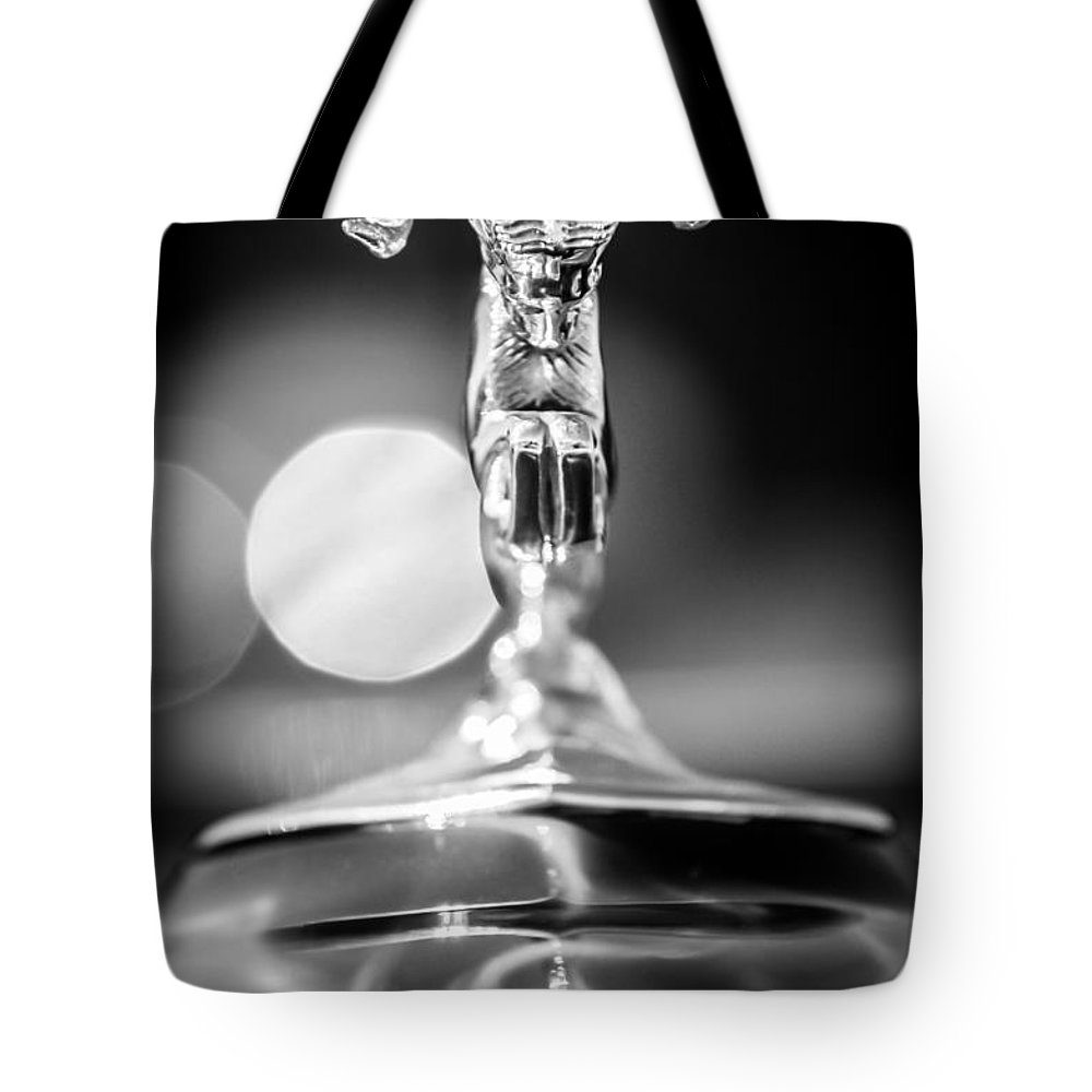 1936 Dodge Ram Hood Ornament Tote Bag featuring the photograph Dodge Ram Hood Ornament 2 by Jill Reger
