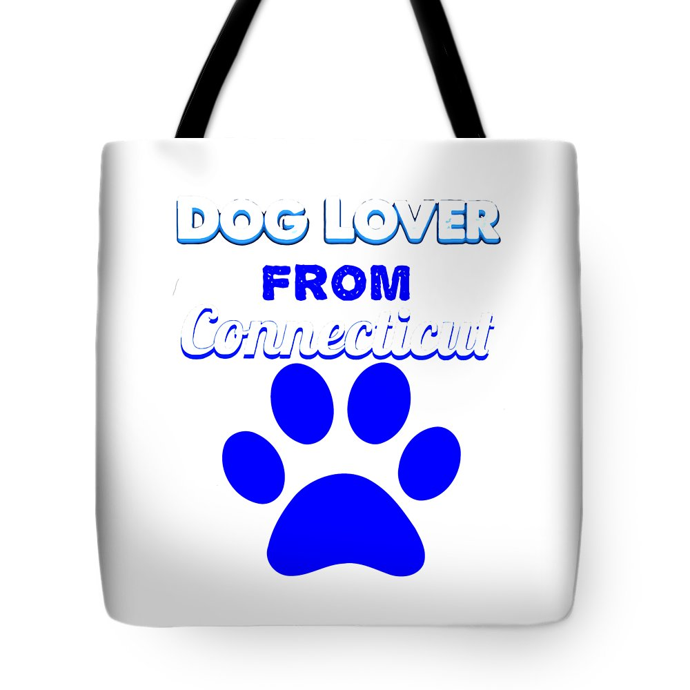 Beagle Tote Bag featuring the digital art Dog Lover From Conneticut by Kaylin Watchorn