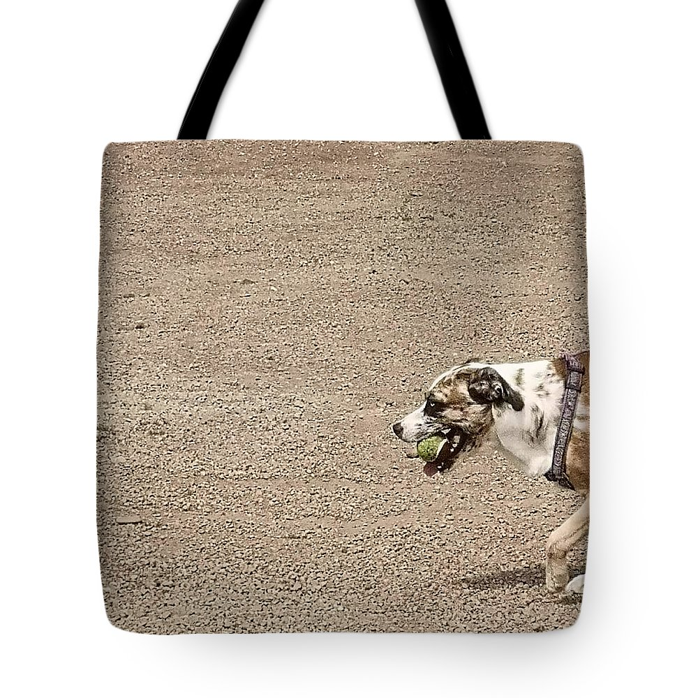 Tote Bag featuring the digital art Dog by Sven Paletta