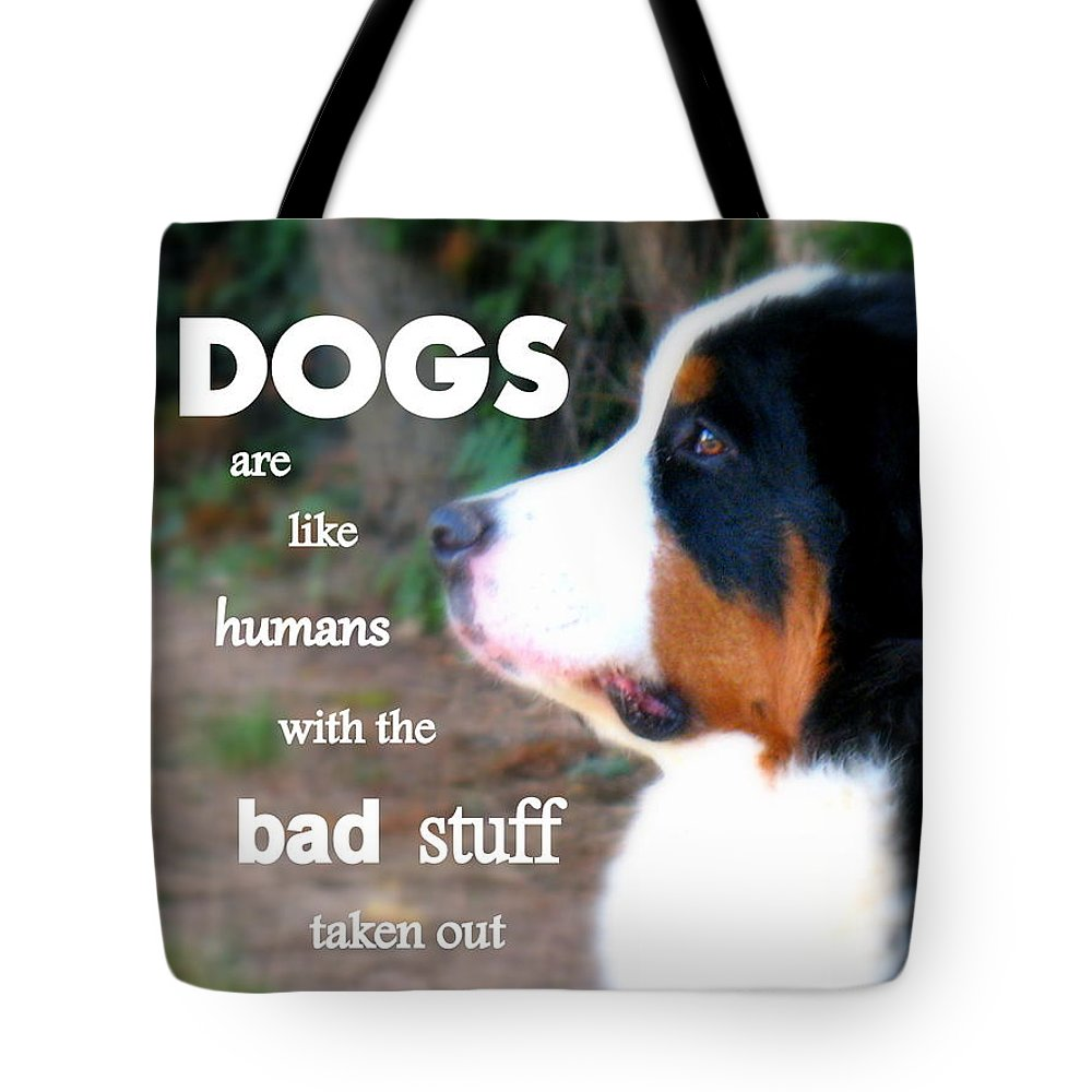 Dogs Tote Bag featuring the photograph Dogs by Patti Whitten