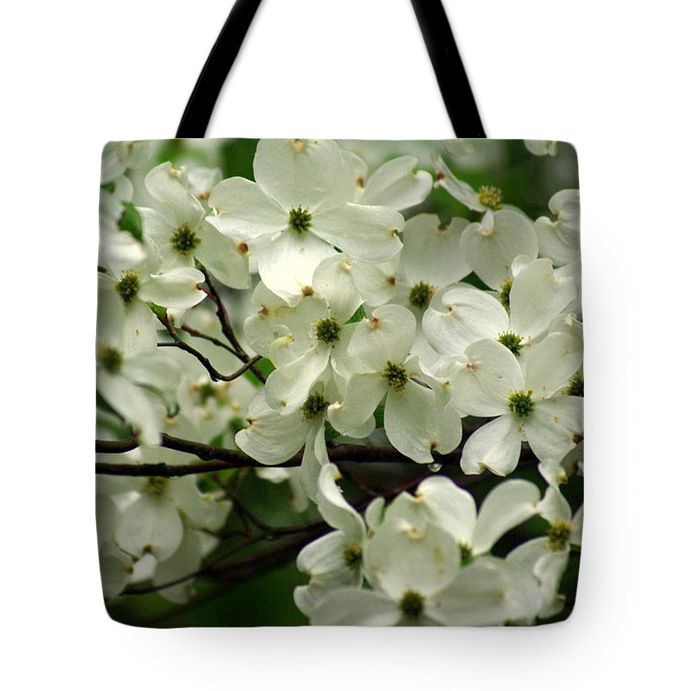 Dogwood Tote Bag featuring the photograph Dogwoods by Marty Koch