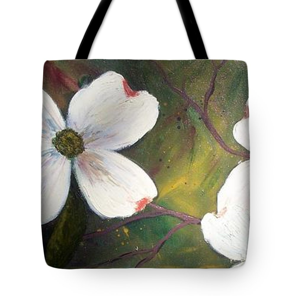 Dogwood Tote Bag featuring the painting Dogwoods by Tami Booher