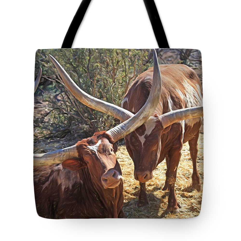Ankole-watusi Tote Bag featuring the photograph Doing The Watusi by Donna Kennedy