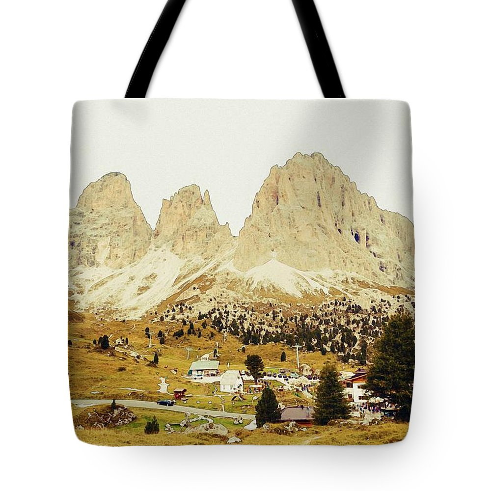 Nature Tote Bag featuring the painting Dolomites, Italy by Celestial Images