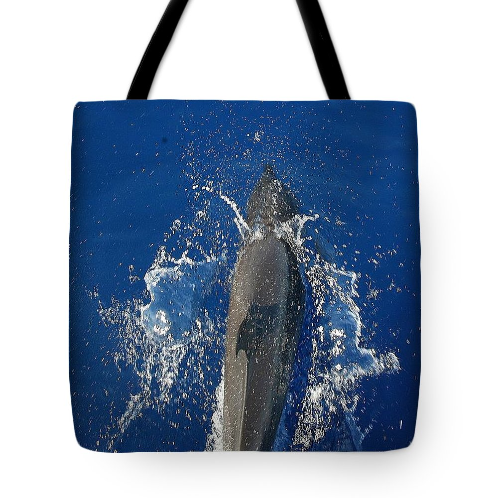 Dolphin Tote Bag featuring the photograph Dolphin by J R Seymour