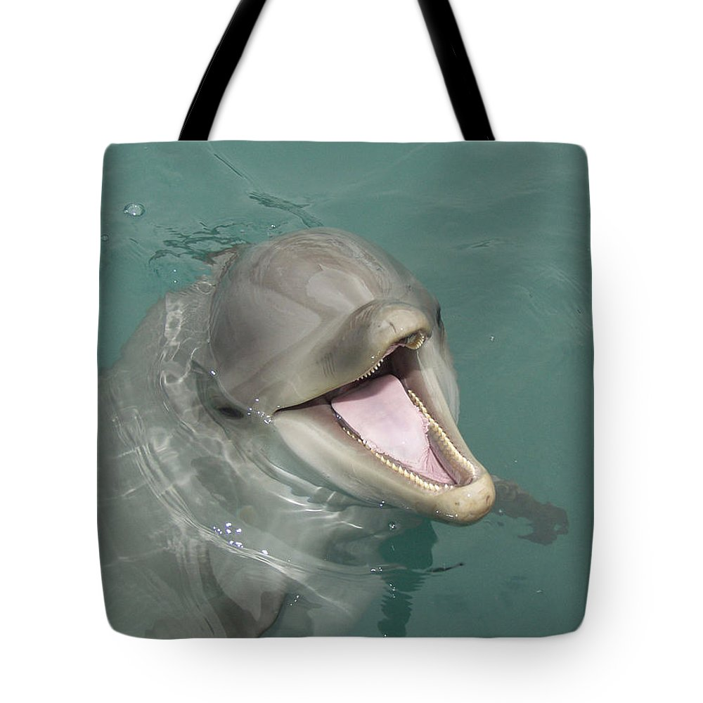 Dolphin Tote Bag featuring the painting Dolphin by Sean M