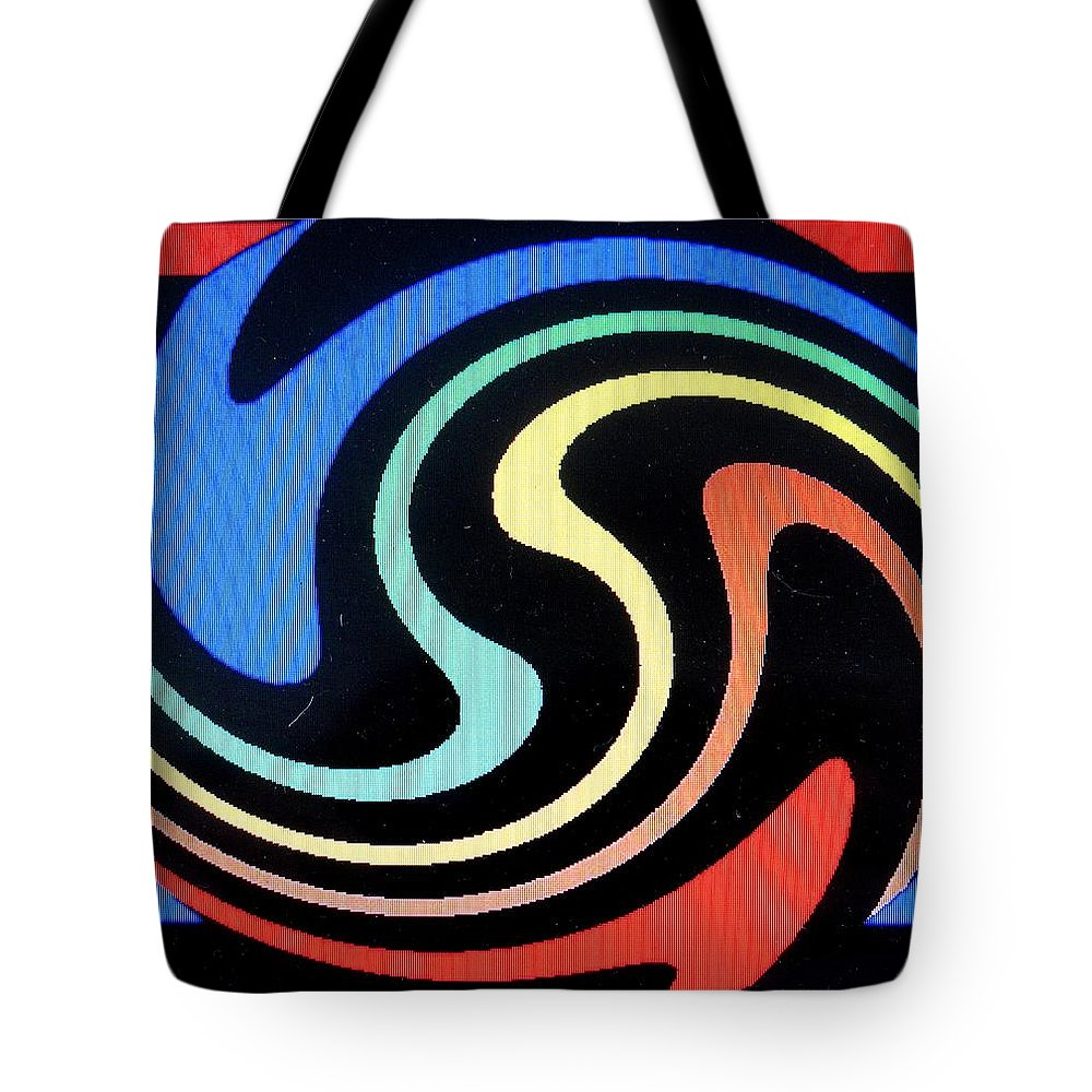 Dolphins Tote Bag featuring the digital art Dolphins by Ian MacDonald