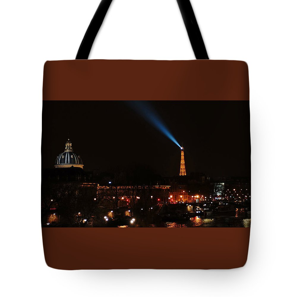 Europe Tote Bag featuring the photograph Dome Eiffel Tower Paris France by Lawrence S Richardson Jr