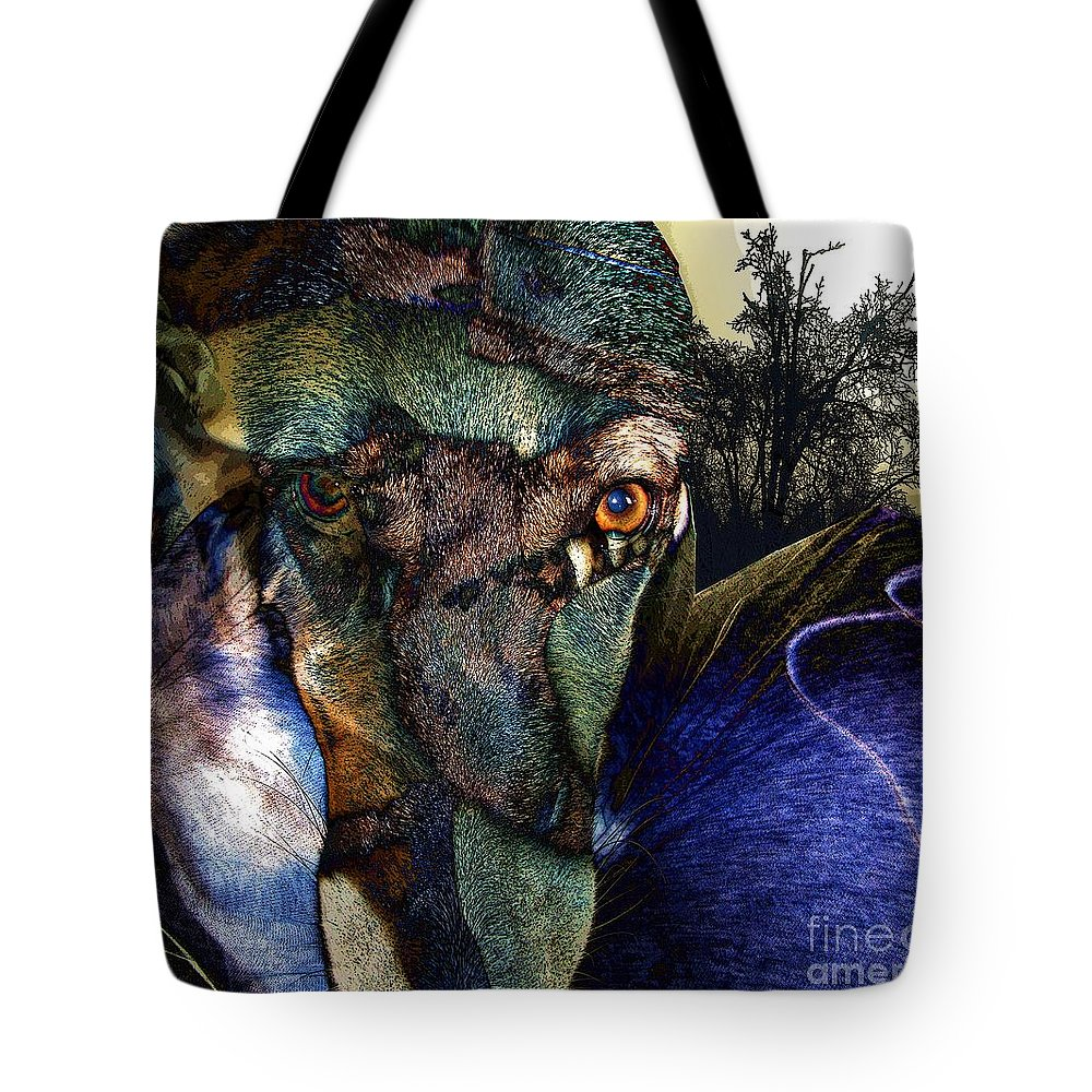 Dog Tote Bag featuring the photograph Domesticated by Ron Bissett