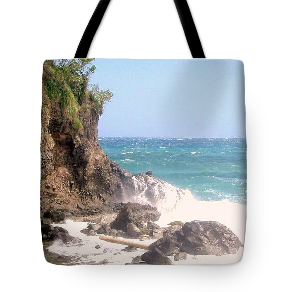 Dominica Tote Bag featuring the photograph Dominica North Atlantic Coast by Ian MacDonald