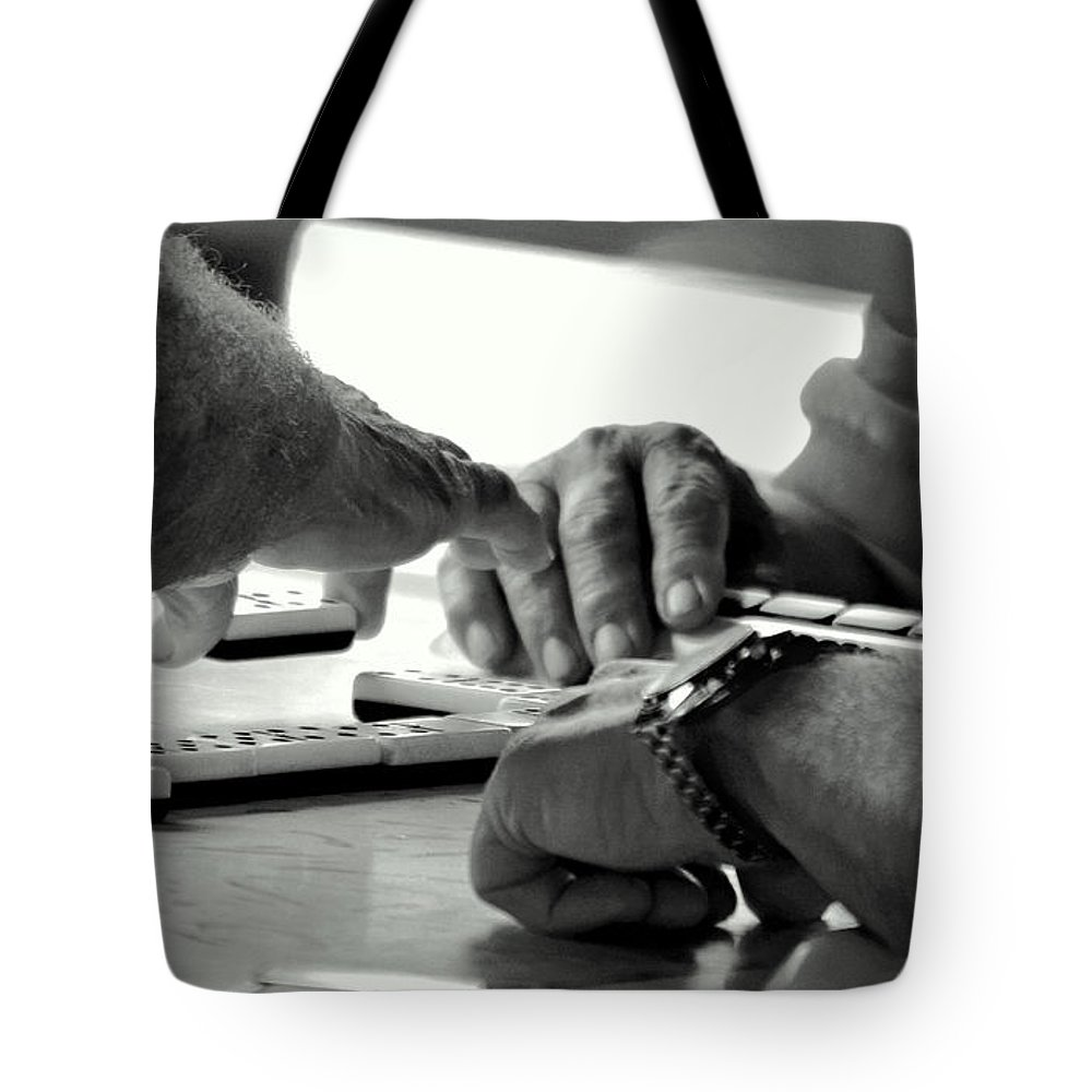 Dominoes Tote Bag featuring the photograph Dominoes by David Gilbert
