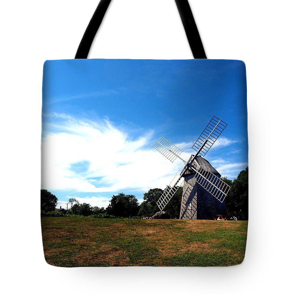 Windmill Tote Bag featuring the photograph Don Quiotes Dragon by Bruce Gannon