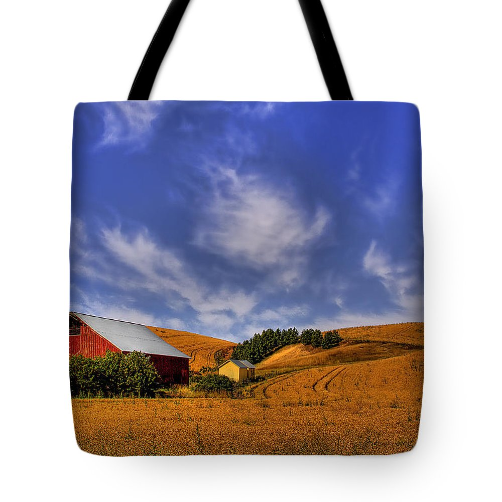 Landscape Tote Bag featuring the photograph Done With Harvest by David Patterson