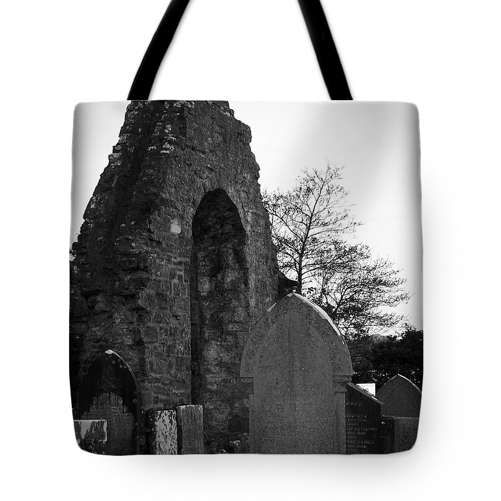 Irish Tote Bag featuring the photograph Donegal Abbey Ruins Donegal Ireland by Teresa Mucha