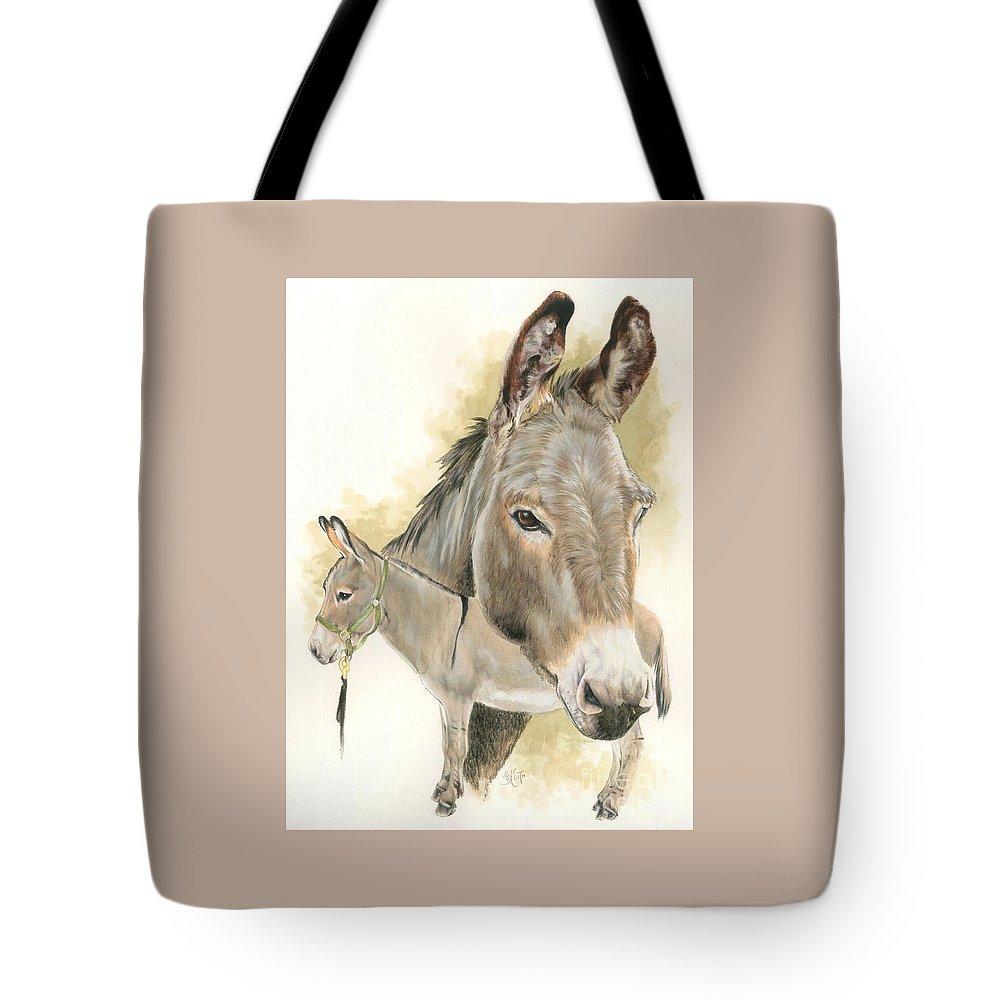 Donkey Tote Bag featuring the mixed media Donkey by Barbara Keith
