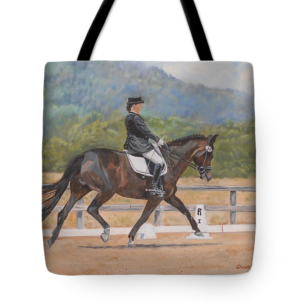 Horse Tote Bag featuring the painting Donnerlittchen by Quwatha Valentine