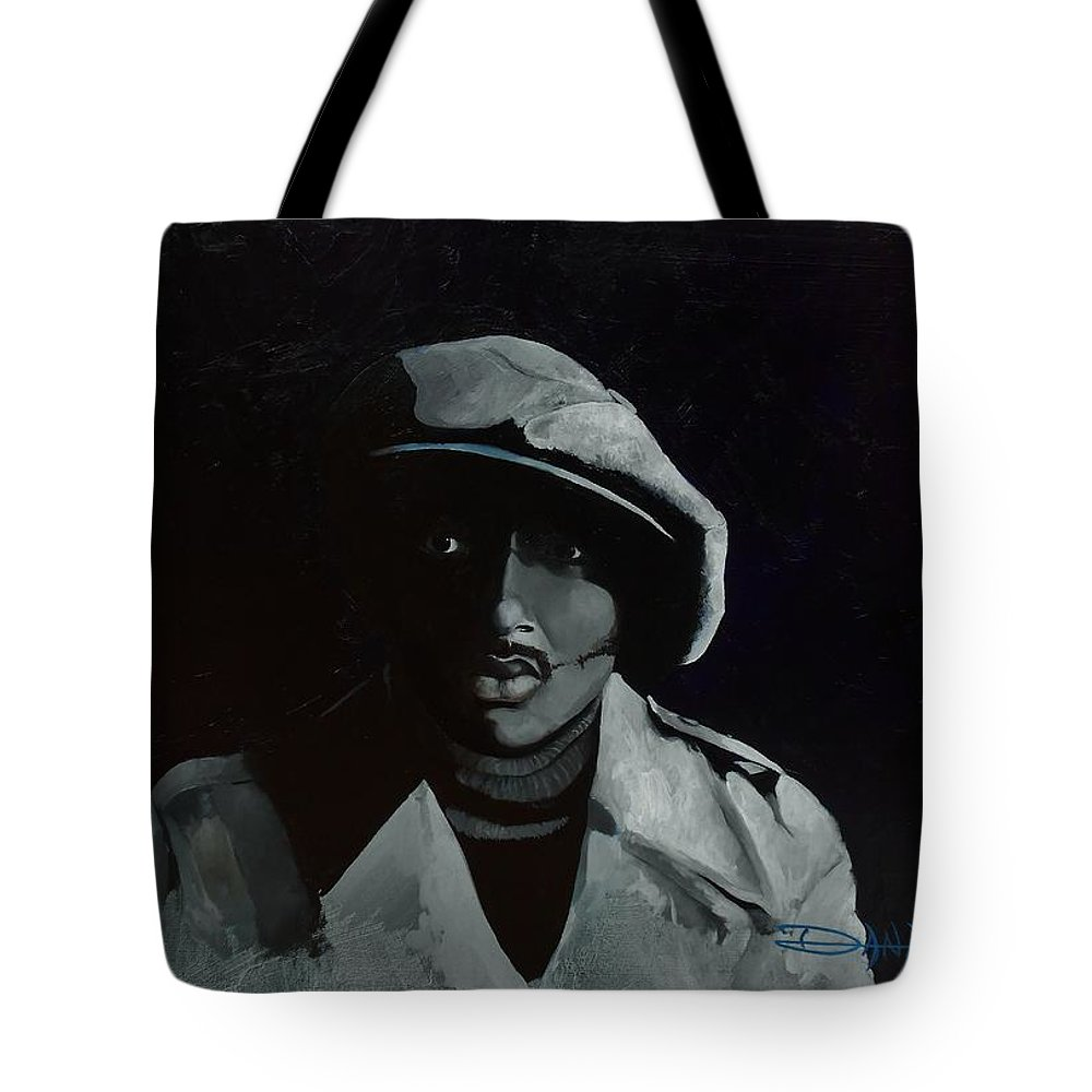 Portrait Tote Bag featuring the painting Donnie Hathaway by Dana Newman