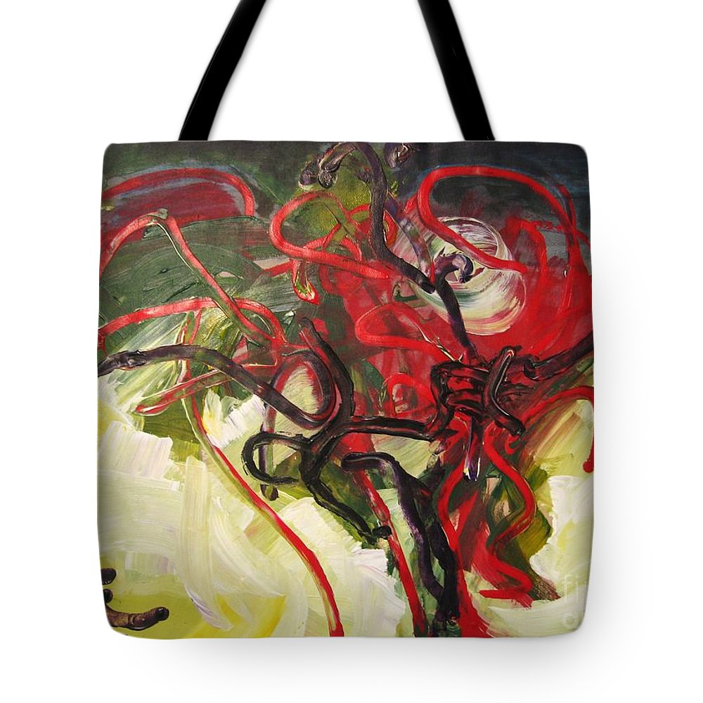Abstract Paintings Paintings Abstract Art Paintings Tote Bag featuring the painting Don't Bother Me by Seon-Jeong Kim