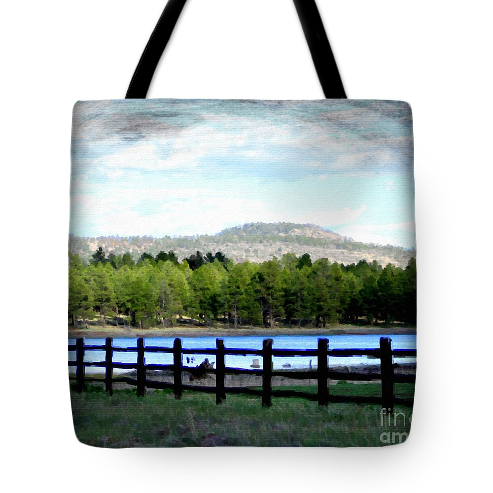 Fence Tote Bag featuring the photograph Don't Fence Me In by Beauty For God