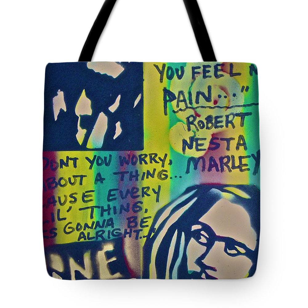 Hip Hop Tote Bag featuring the painting Don't You Worry by Tony B Conscious