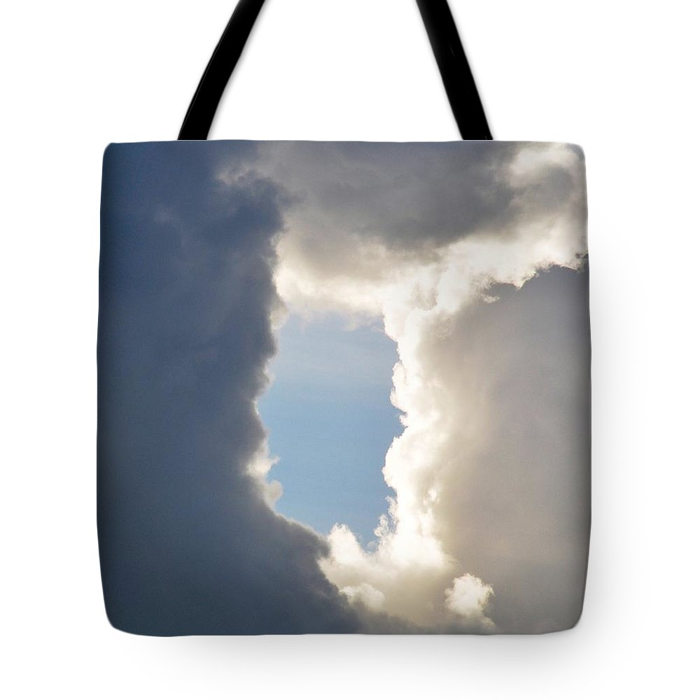 Cloud Tote Bag featuring the photograph Donut Hole by Rich Bodane