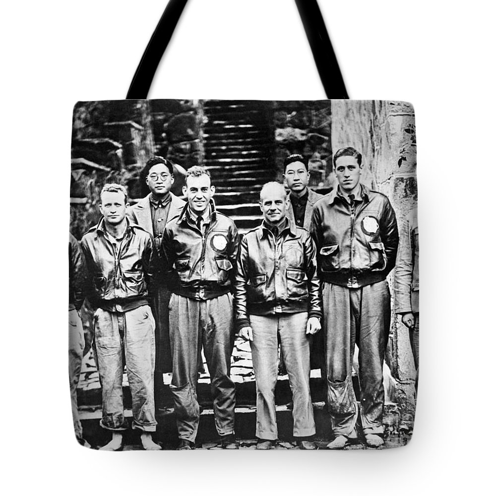 1943 Tote Bag featuring the photograph Doolittle's Raiders by American School
