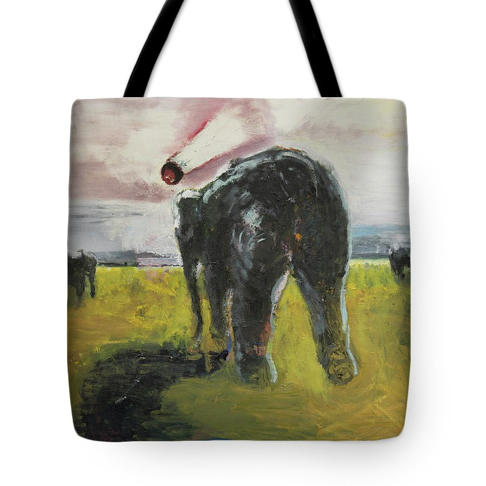 Meteor Tote Bag featuring the painting Doomsday by Craig Newland