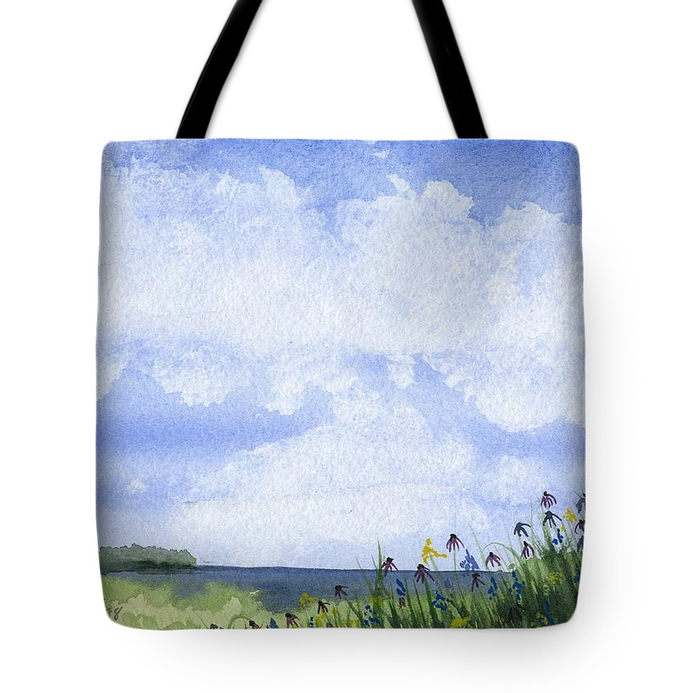 Door County Tote Bag featuring the painting Door County View by Denise  Hoff