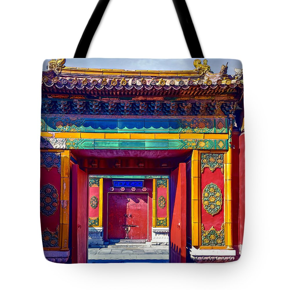 Ancient Tote Bag featuring the photograph Doors by Maria Coulson