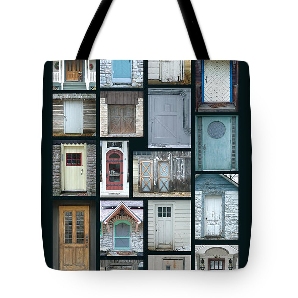 Doors Tote Bag featuring the photograph Doors Of Door County Poster by Tim Nyberg