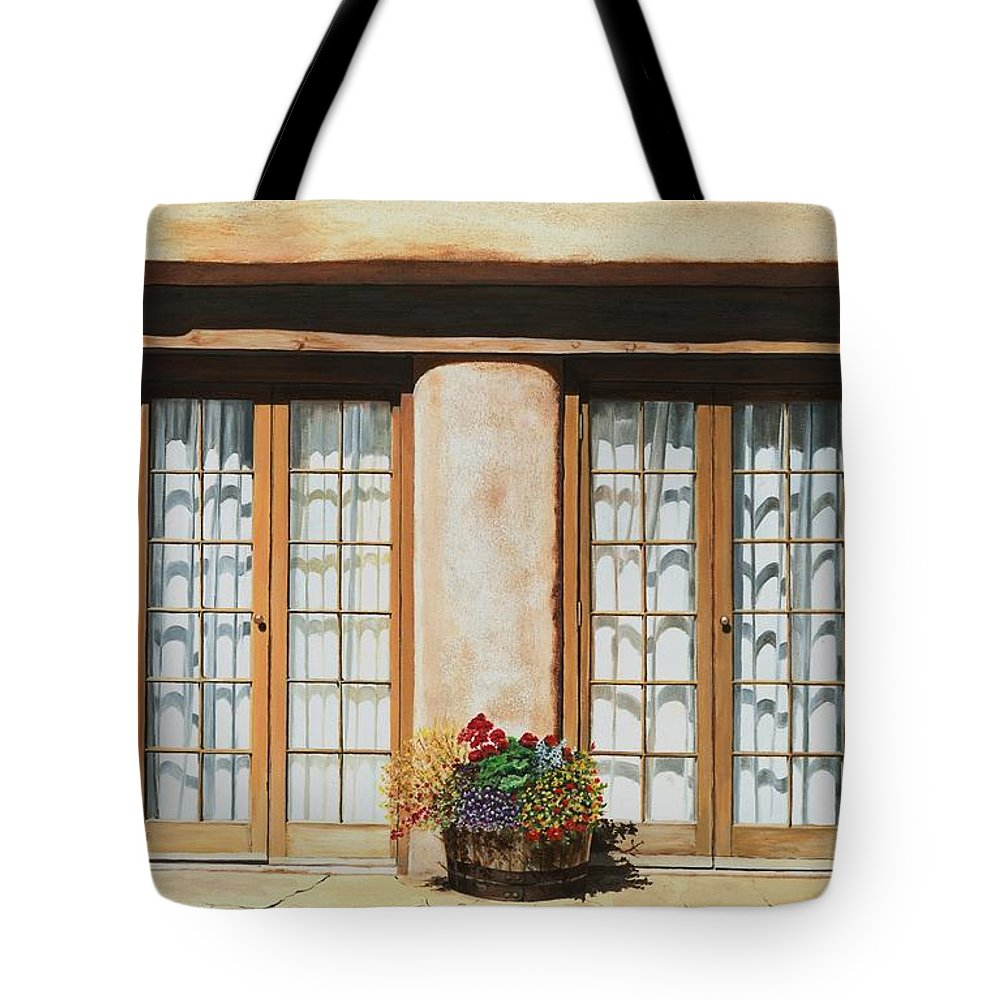 Usa Tote Bag featuring the painting Doors Of Santa Fe by Mary Rogers