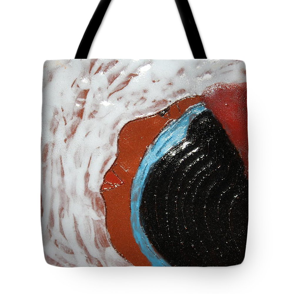 Jesus Tote Bag featuring the ceramic art Doreen - Tile by Gloria Ssali