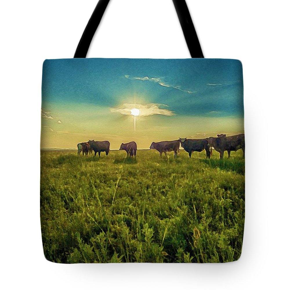 Nature Tote Bag featuring the painting Dornodo Steppe Mongolia by Celestial Images